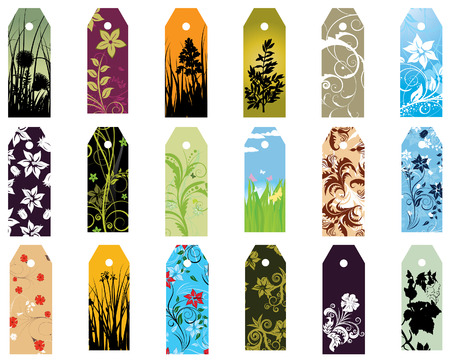 Set of  different vector floral  bookmarks for design use Stock Vector - 5021473