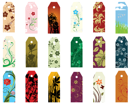 blanks: Set of  different vector floral  bookmarks for design use
