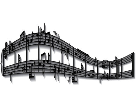 Vector musical notes staff background for design use Stock Vector - 5021468