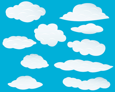 Set of vector clouds background for design use Stock Vector - 5021477