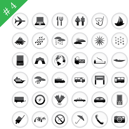 tourists stop: Collection of different icons for using in web design. Set #4 Illustration