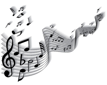 Vector musical notes staff background for design use Stock Vector - 5057398