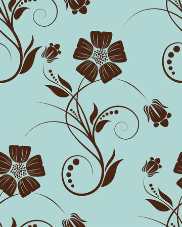 Seamless vector floral background for design use Stock Vector - 5071234