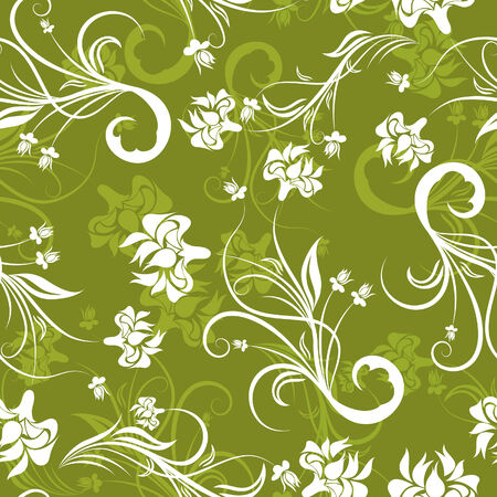drapes: Seamless vector floral background for design use