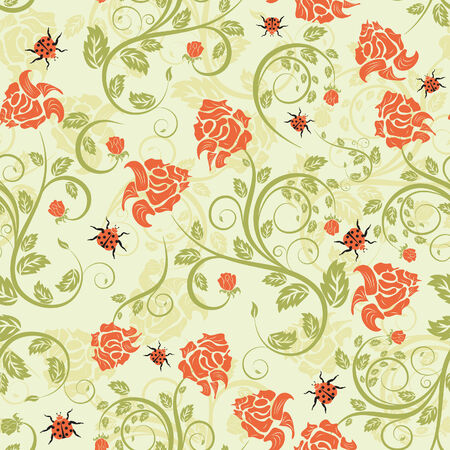 siluetas: Seamless vector floral background for design use