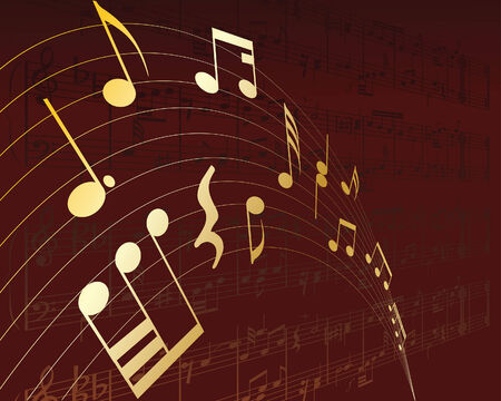 Vector musical notes staff background for design use Stock Vector - 5071242