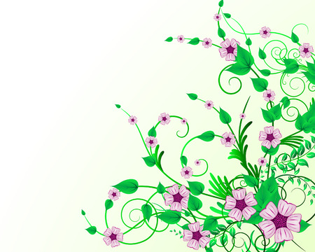 Green floral vector background for design use Stock Vector - 5140514