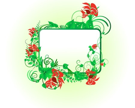 Green floral vector background for design use Stock Vector - 5140515