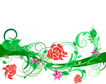 Green floral vector background for design use Stock Vector - 5140516