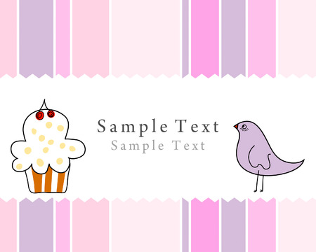 Hand drawn infant card for design use Vector