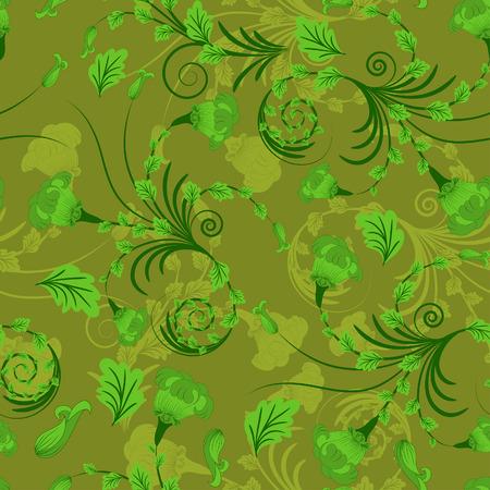 원활한 벡터 꽃 배경 디자인을 사용합니다.