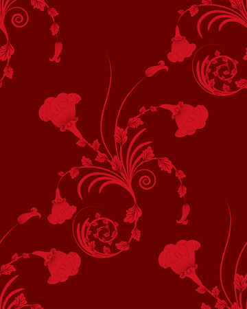Seamless vector floral background for design use Vector