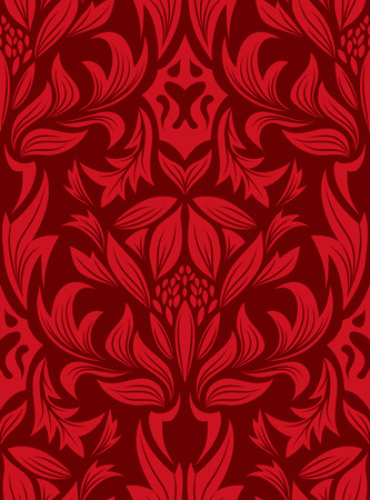 Damask seamless vector background.  For easy making seamless pattern just drag all group into swatches bar, and use it for filling any contours. Stock Vector - 5175087