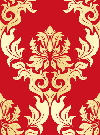 leafs: Damask seamless vector background.  For easy making seamless pattern just drag all group into swatches bar, and use it for filling any contours. Illustration