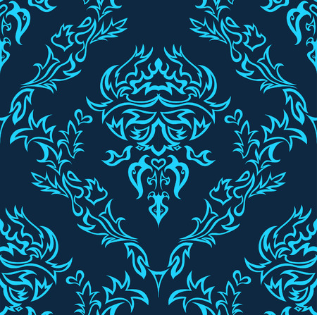 group pattern: Damask seamless vector background.  For easy making seamless pattern just drag all group into swatches bar, and use it for filling any contours. Illustration