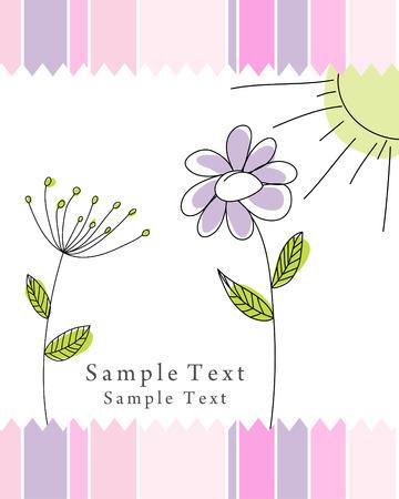 Dibujado a mano infantil tarjeta de uso para el diseño Ilustración de vector