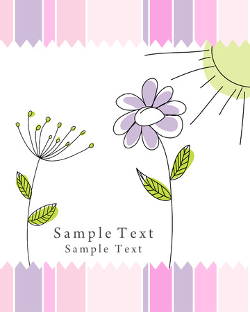 floral vector: Hand drawn infant card for design use Illustration