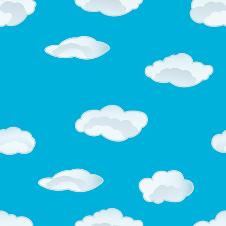 Seamless vector clouds background. For easy making seamless pattern just drag all group into swatches bar, and use it for filling any contours. Stock Vector - 5212297