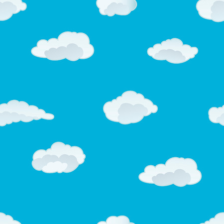 Seamless vector clouds background. For easy making seamless pattern just drag all group into swatches bar, and use it for filling any contours. Stock Vector - 5212298