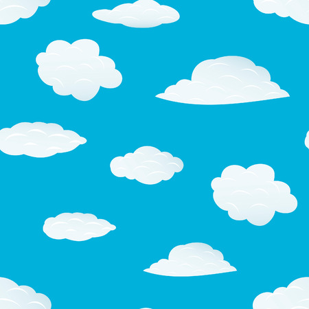 Seamless vector clouds background. For easy making seamless pattern just drag all group into swatches bar, and use it for filling any contours. Stock Vector - 5212290