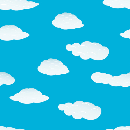 Seamless vector clouds background. For easy making seamless pattern just drag all group into swatches bar, and use it for filling any contours. Stock Vector - 5212291