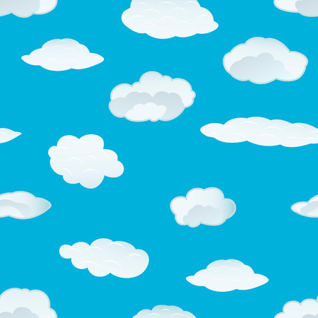 Seamless vector clouds background. For easy making seamless pattern just drag all group into swatches bar, and use it for filling any contours. Stock Vector - 5212300