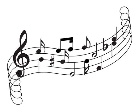 Musical notes staff theme for use in web design Stock Vector - 5212284