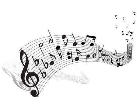 Musical notes staff theme for use in web design Stock Vector - 5212301