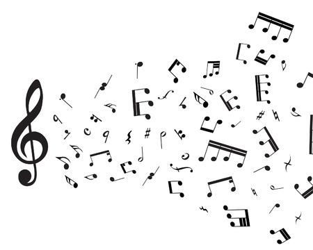 pentagrama musical: Notas musicales para su uso personal en el tema de dise�o web Vectores