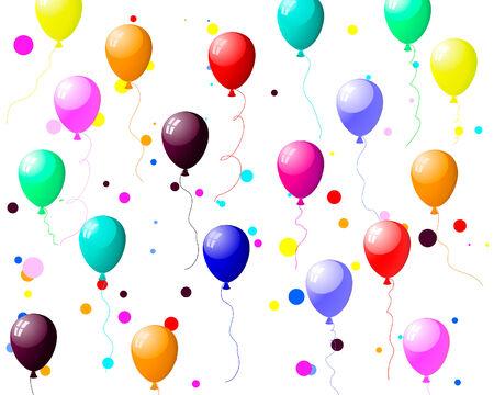 Beautiful colour balloon in the air. Vector illustration. Stock Vector - 5233276