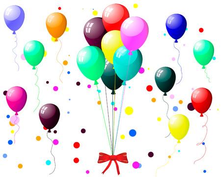 Beautiful colour balloon in the air. Vector illustration. Stock Vector - 5233263
