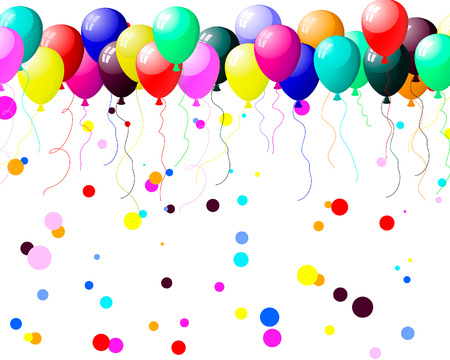 Beautiful colour balloon in the air. Vector illustration. Stock Vector - 5233266