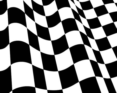 Black and White Flag Racing controllato. Vector illustration.