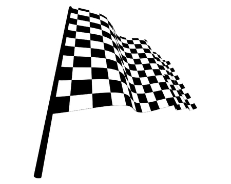 Black and white checked racing flag. Vector illustration. Stock Vector - 5233270