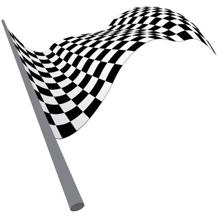 Black and white checked racing flag. Vector illustration.  Stock Vector - 5233277