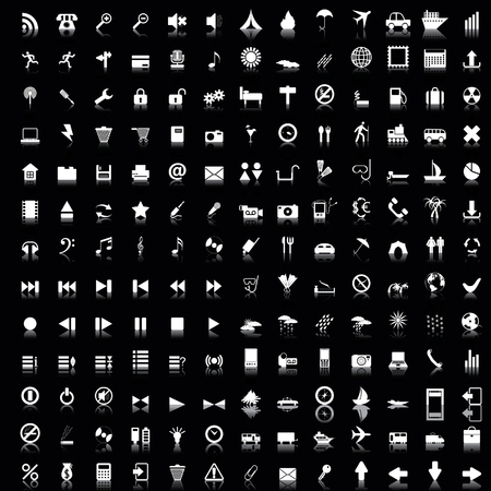 Biggest collection of 170 different icons for using in web design Vector