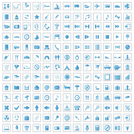 Biggest collection of 170 different icons for using in web design Stock Vector - 5233308