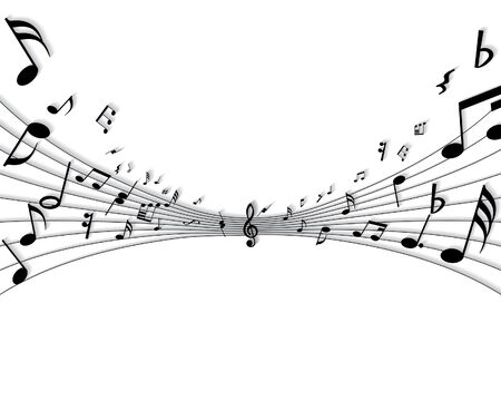 scrool: Vector musical notes staff background for design use Illustration