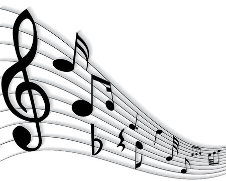 Vector musical notes staff background for design use Stock Vector - 5244901