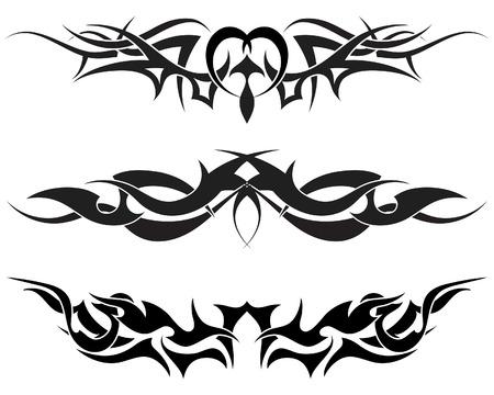 dragon tribal: Les mod�les de tatouage tribal pour utiliser la conception Illustration