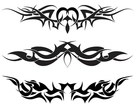 tribal dragon: Patterns of tribal tattoo for design use