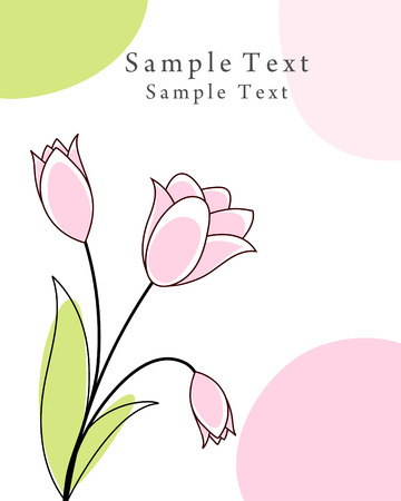 Abstract vector greetings card for design use. Vector