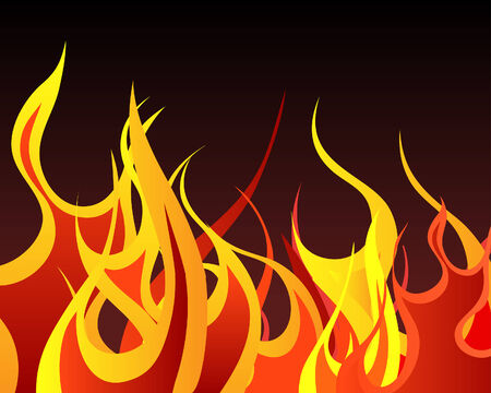 blazes: Inferno fire vector background for design use Illustration