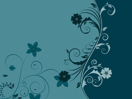Beautiful floral vector background for design use Stock Vector - 5250421