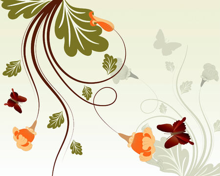 Beautiful floral vector background for design use Stock Vector - 5250435