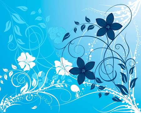 vector borders: Beautiful floral vector background for design use