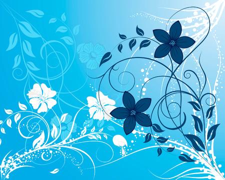 elegant vector: Beautiful floral vector background for design use