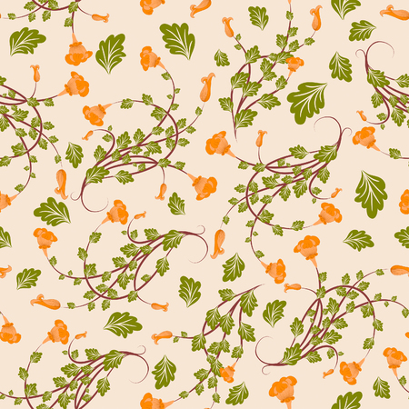 drapery: Seamless vector floral background. For easy making seamless pattern just drag all group into swatches bar, and use it for filling any contours. Illustration