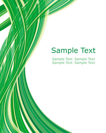 Abstract green ecological theme pattern. Vector illustration Vector