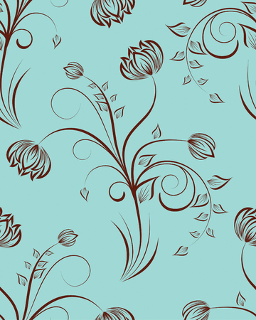 Seamless vector floral background. For easy making seamless pattern just drag all group into swatches bar, and use it for filling any contours. Stock Vector - 5270645